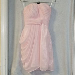 Strapless Pale Pink Cocktail Dress